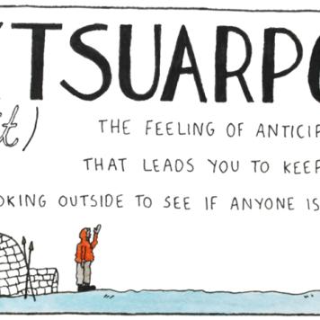 Um sentimento de antecipação que leva você a ir lá fora e verificar se alguém está vindo