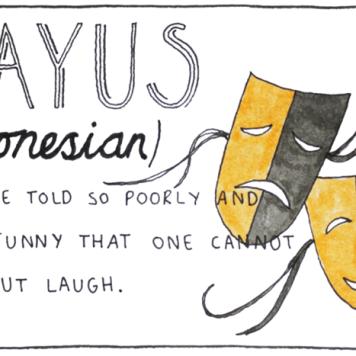 Gíria usada quando alguém conta uma piada tão ruim ou sem graça que ninguém pode ajudar, ri da situação