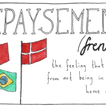 O sentimento decorrente de não estar em seu país de origem